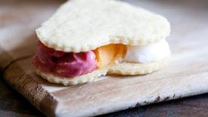 Neapolitan Sorbet Sandwiches