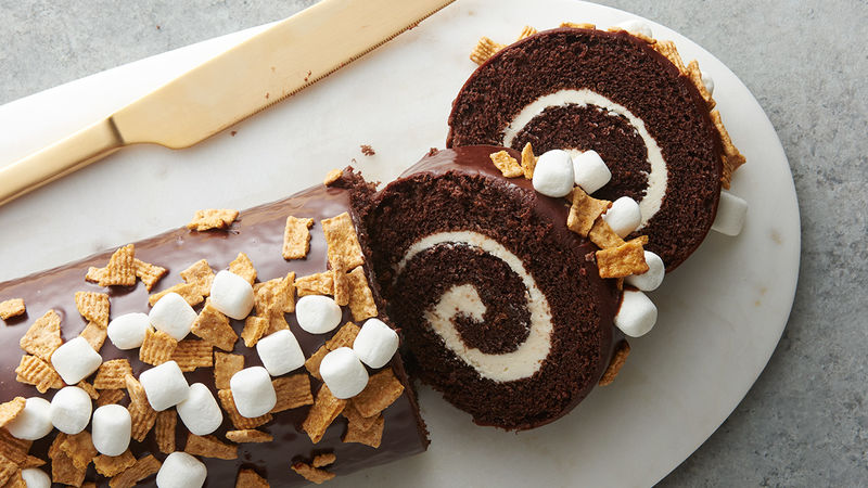 S'mores Cake Rolls