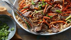 Mongolian Beef and Noodles