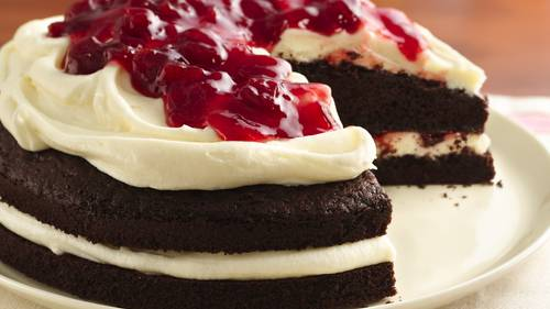 Gluten Free Cherries And Cream Devils Food Cake Recipe