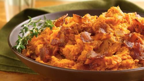 Mashed Sweet Potatoes with Bacon image