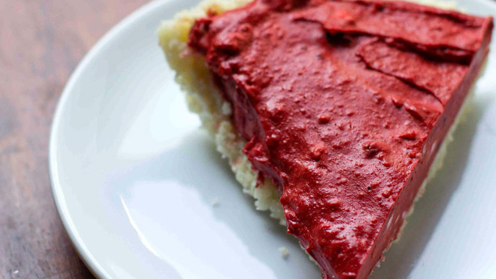 Red Velvet Cheesecake with Sugar Cookie Crust