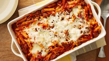 Easy Double Cheese Baked Penne