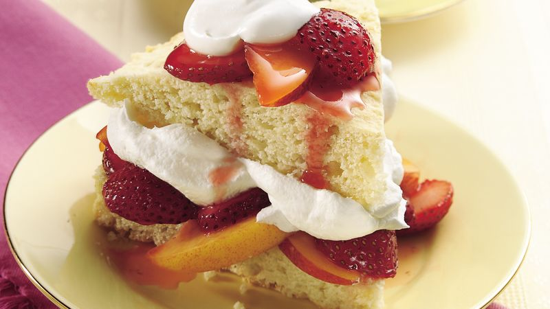 Strawberry and Nectarine Shortcakes