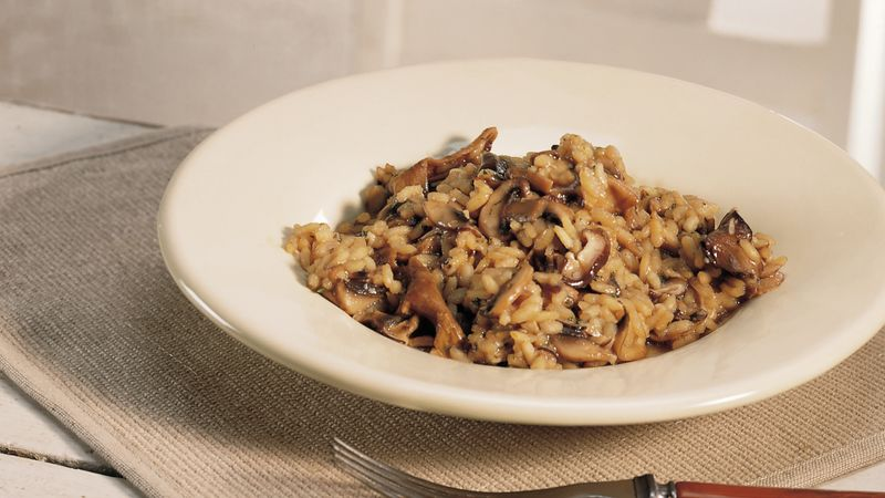 Three Mushroom Risotto Recipe Bettycrocker Com
