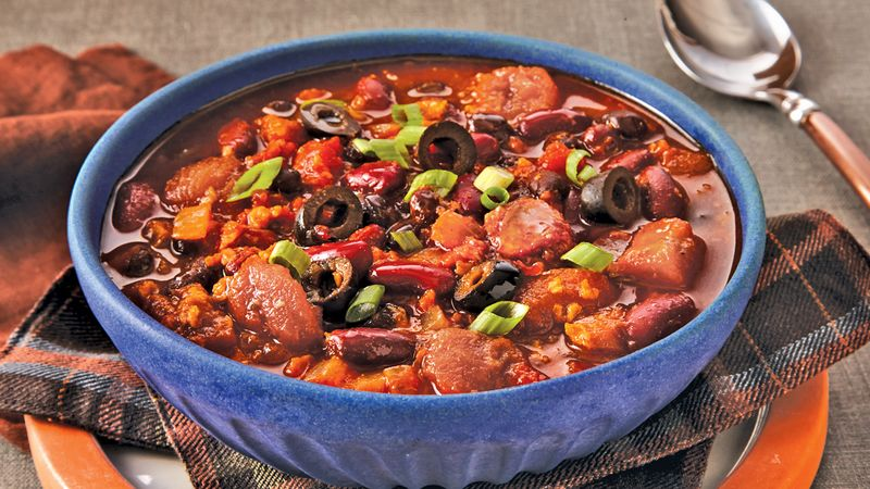 """Meaty"" Meatless Double-Bean Chili"