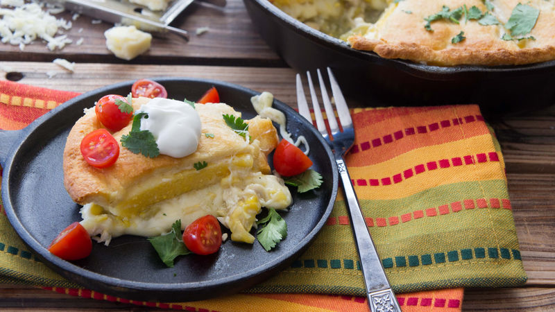 Chicken Tamale Skillet Pie