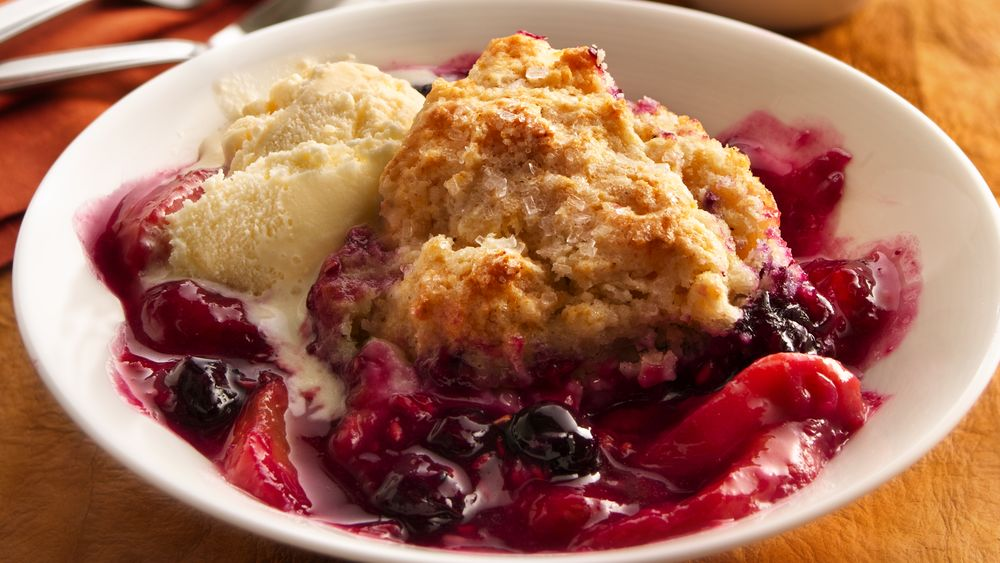 Berry-Peach Cobbler