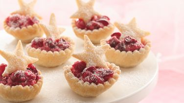 Cranberry Mousse Mini-Tarts
