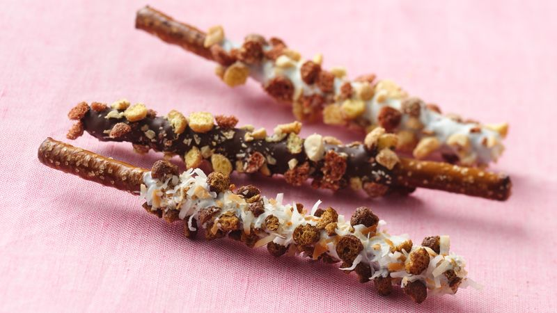 Sweet and Salty Dipped Pretzels
