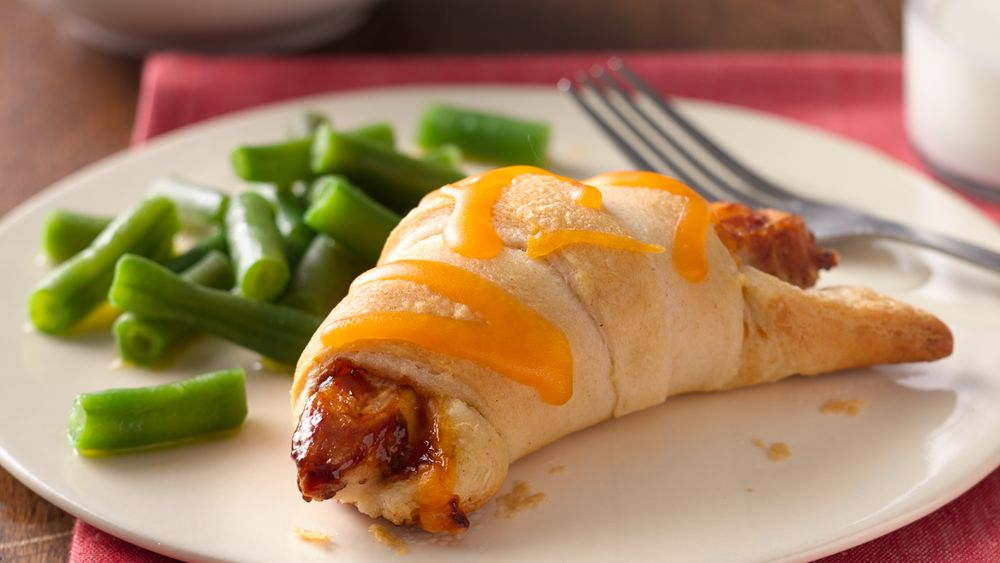 Easy bbq chicken crescents recipe for Easy things to make for dinner for two