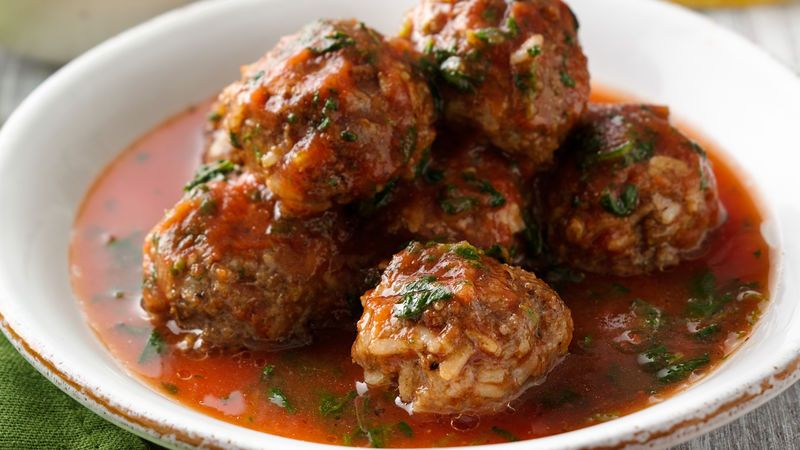 Beef and Rice Meatballs