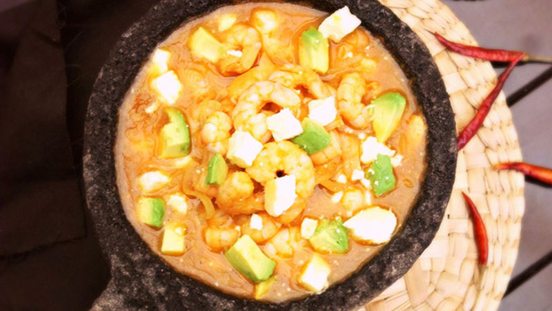 Mexican Molcajete Shrimp