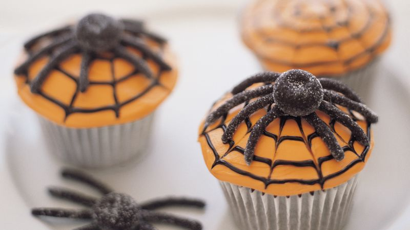 spider web cupcakes halloween