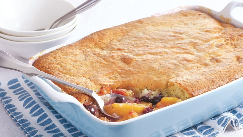 Stone Fruit Berry Muffin Cobbler