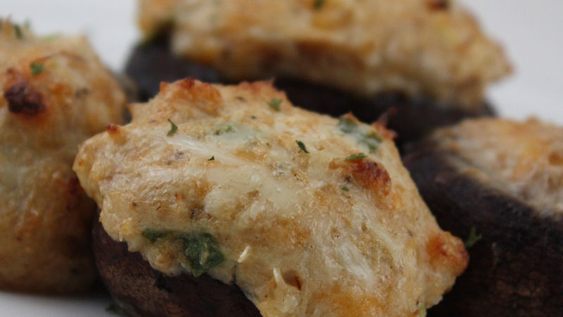 Gluten-Free Crab Stuffed Mushrooms