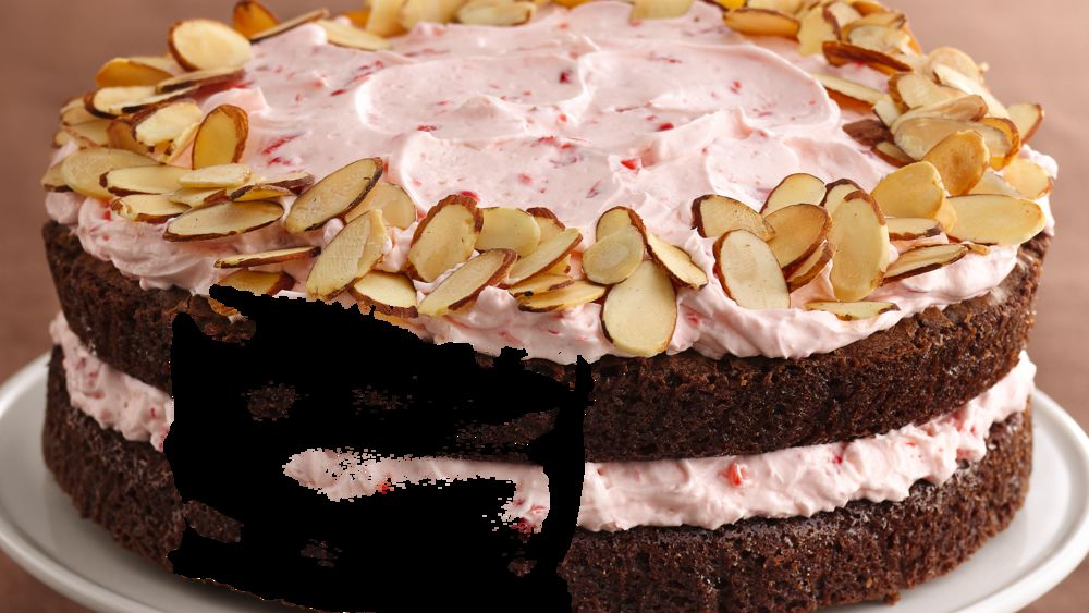 Almond Brownie-Cherry Mousse Torte