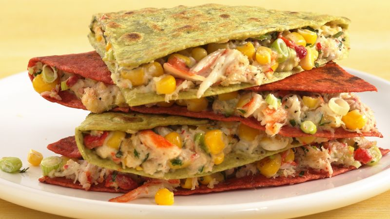 Corn and Crab Quesadillas