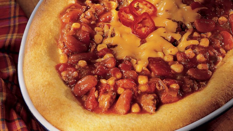 Chili Casserole with Cornbread
