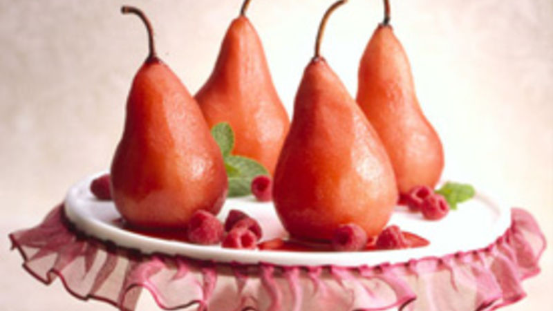 Winter Poached Pears