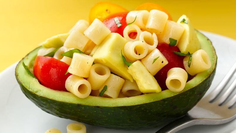 Ditalini Pasta with Avocado and Tomatoes