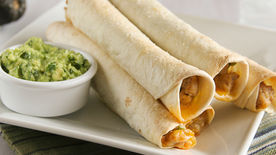 Chipotle-Chicken Baked Taquitos