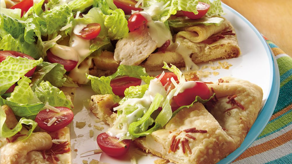 Chicken Caesar Club Salad Pie