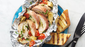 Prosciutto-Wrapped Chicken Foil Packs