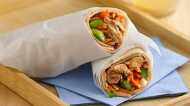 Slow-Cooker Teriyaki-Sesame-Chicken Wraps