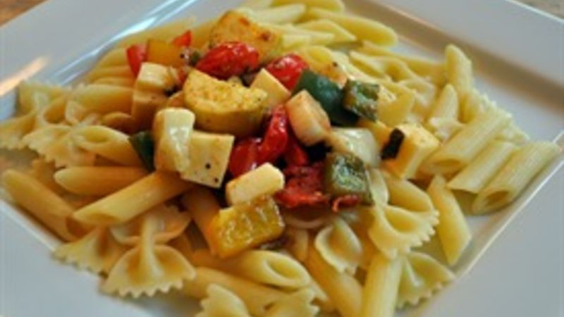 Grilled Vegetables over Pasta