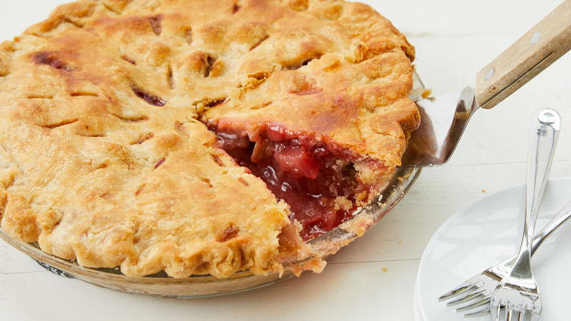 Strawberry Rhubarb Pie Recipe Bettycrocker Com