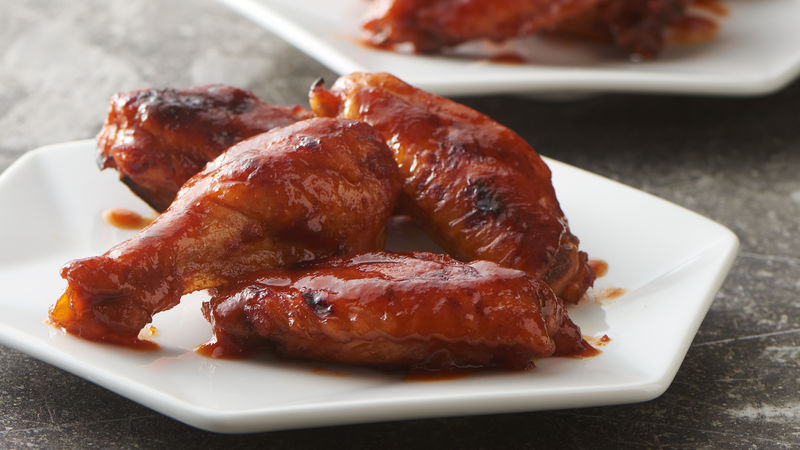 Slow-Cooker Bourbon Honey BBQ Wings
