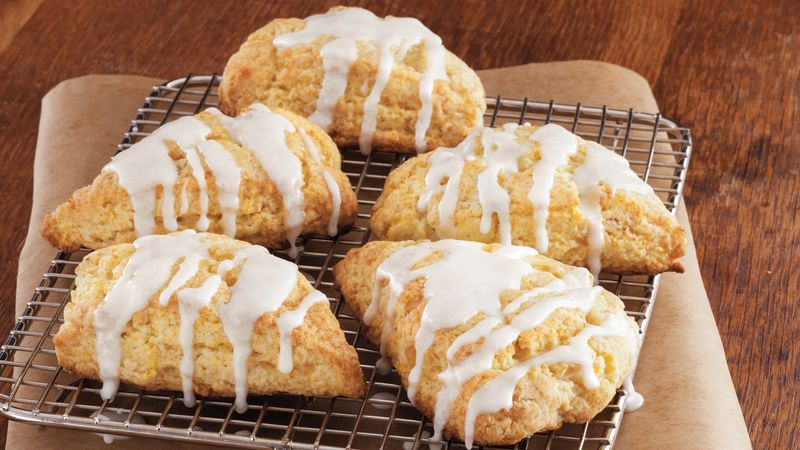 Glazed Orange-Ginger Scones Recipe - BettyCrocker.com