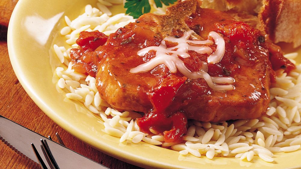 Slow-Cooker Pizza Pork Chops