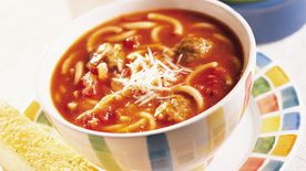 Spaghetti and Meatball Soup