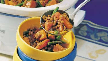 Curried Sweet Potato and Lentil Stew