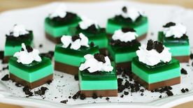 Thin Mint Jello Shots