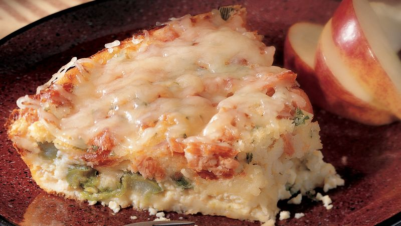 Impossibly Easy Salmon Asparagus Pie