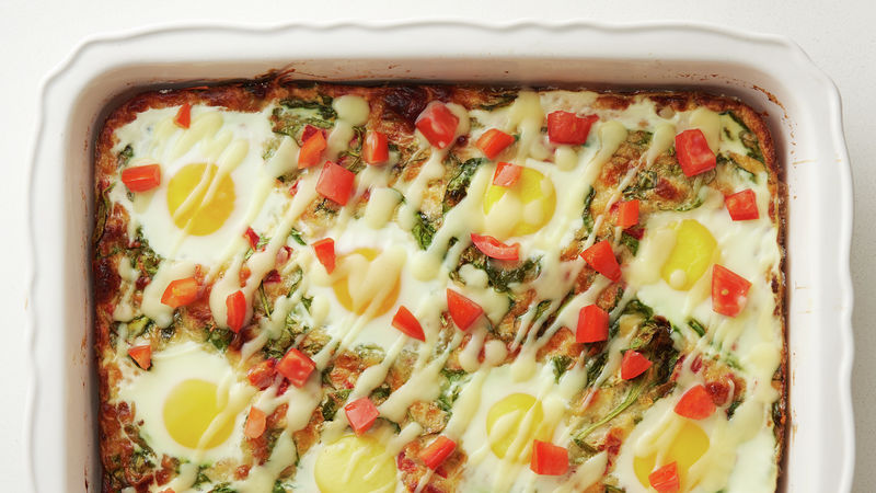 Impossibly Easy Eggs Florentine Bake