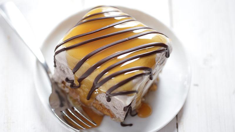 Peanut Butter Salted Caramel Icebox Cake