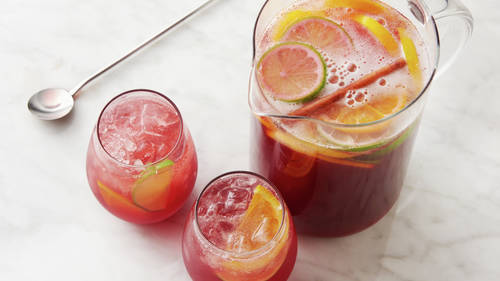 Non-Alcoholic Spiced Sangria Punch
