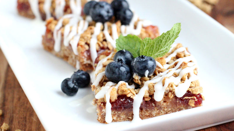 Cherry-Berry Streusel Bars