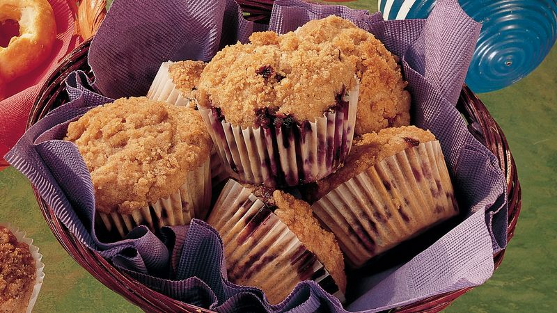 Blueberry Streusel Muffins (lighter recipe)