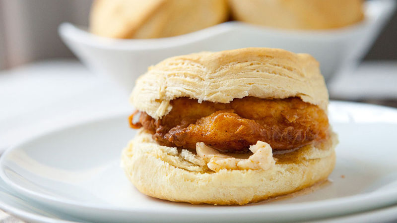 Southern Fried Chicken Biscuit Sandwiches Recipe