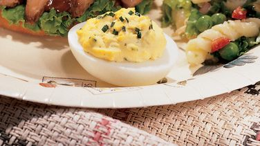 Deviled Onion Eggs