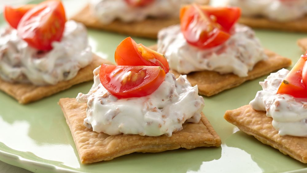 Easy bacon tomato appetizers recipe from for Simple canape appetizer