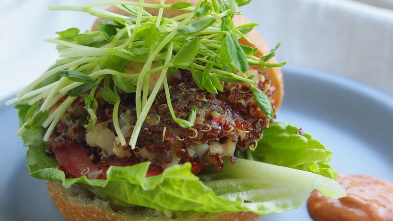 Shrimp and Quinoa Burgers