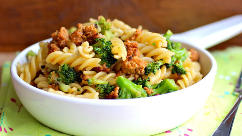 Pasta with Broccoli y Chorizo
