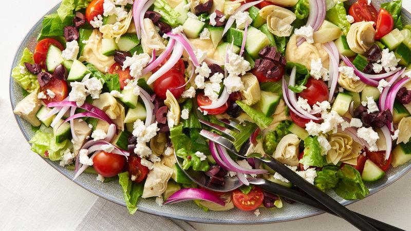 Mediterranean Layered Salad