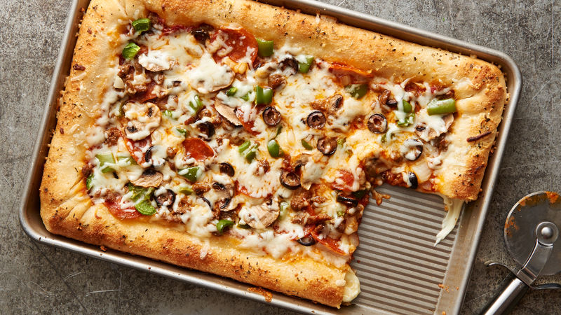 Sheet-Pan Cheese-Stuffed-Crust Pizza